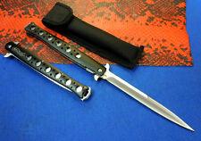 13'' Black Walther Aluminium Handle Big Pocket Folding Assisted Knife SA01