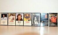 Lot of 7 Neil Diamond Music Cassette Tapes With The Original Case SWEET CAROLINE