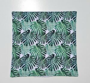 Palm Leaf Tropical Face Cloth Flannel Bamboo Backed Cotton Wipe Beauty Kids Eco