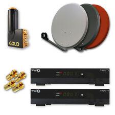 Sat Anlage mit 2 HDTV Receiver WWIO TRINITY FULL HD bis 4 Teilnehmer HDMI
