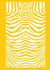 "High Heat Zebra Stripe Vinyl Firearm Stencil 5"" x 8"" Cerakote Duracoat"