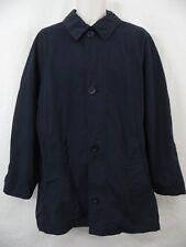 Hugo Boss - Mens 2XL Regular - Navy Blue Cotton Blend Pea Coat Peacoat Jacket
