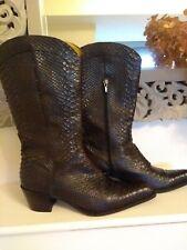 Zamagni Designer Italian Real Snakeskin Python Cowboy Western Boots 40 6 6.5....