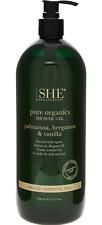 OM SHE AROMATHERAPY Palmarosa & Bergamot Pure Organics Shower Gel 1L