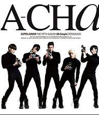 K-POP SUPER JUNIOR 5th Album [A-CHA] Repackage CD Sealed Music CD