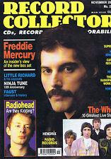FREDDIE MERCURY / THE WHO / RADIOHEADRecord Collector 255 Nov 2000