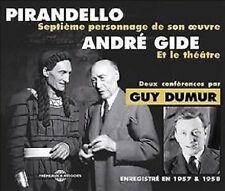 955 PIRANDELLO ANDRE GIDE DEUX CONFERENCES PAR GUYDUMUR ENREGISTRE EN 1957&1958