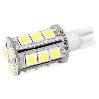 HQRP White T10 Wedge 18-SMD 5050 LED Light bulb 192 168 194 W5W 2825 158