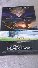 """HOWL'S MOVING CASTLE 2004 PROMO MOVIE POSTER ANIME 13"""" x 20"""" SHIPPED ROLLED/NICE"""
