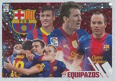 N°04 EQUIPAZOS TEAM SQUADRA # ESPANA FC.BARCELONA STICKER PANINI ESTE LIGA 2014