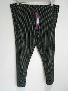 BNWT Marks & Spencer Limited Collection dotty black Maternity leggings 16 NEW
