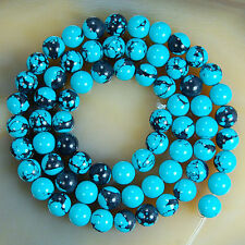 "10Pcs Blue Turquoise Round Gemstone Beads 15.5"" 10mm Pick Size"