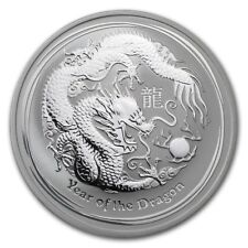 2012 AUSTRALIA SILVER LUNAR DRAGON COIN 1 OZ UNC .999 BU from Mint roll