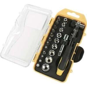 Set chiavi a cricchetto bussola reversibile 1/4 pollici e 22 bussole avvitatore