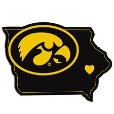 Iowa Hawkeyes Home State Vinyl Auto Decal (Iowa Shape) NCAA Licensed