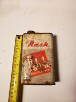 Vintage rare NASH car polish tin can
