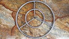 "24"" Stainless Steel Round Fire Pit Burner Ring, Reversible, From the Distributor"
