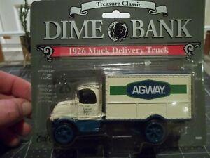 Ertl Treasure Classic -1926 Mack Agway Delivery Truck Dime Bank - Model25270