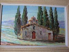 EGLISE SAINTE MARTHE (Alpes Maritimes ) par Louis Jacques VIGON  HUILE
