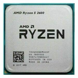 AMD Ryzen 5 2600 R5 2600 Six-Core Socket AM4 3.4GHz 65W CPU Processor
