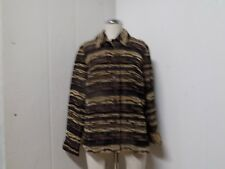 COLDWATER CREEK Womens Brown Cheetah Animal Print Button Front Jacket ( Small )