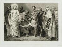 Repr., Christus und die Ehebrecherin, 2. Hlft. 19. Jhd, Radierung