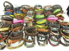 wholesale 50 Pcs Mixed leather bracelets PUNK Retro Fashion Jewelry adjustable