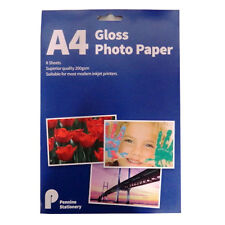 A4 Gloss Photo Paper, 200gsm Gloss, 8 Sheets, Size 297mm x 210mm