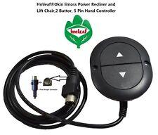 Hmleaf Okin Limoss Power Recliner or Lift Chair 2 Button, 5 pin Hand Controller