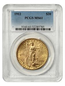 1912 $20 PCGS AG0 - Underrated P-Mint Saint Gaudens