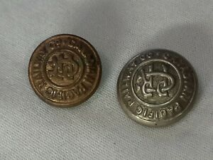 Canadian Pacific Railway Co. Buttons, 2 Lot
