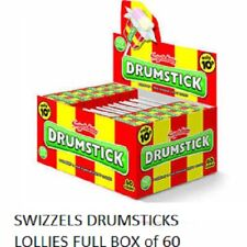 SWIZZELS DRUMSTICKS LOLLIES FULL BOX of 60 LOLLIES KIDS BIRTHDAY PARTY FAVOURS