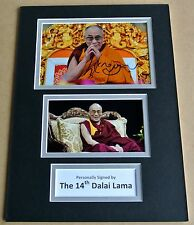 DALAI LAMA SIGNED autograph A4 Photo Mount Display TENZIN GYATSO Memorabilia COA