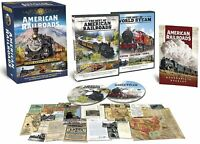 AMERICAN RAILROADS: The Complete Story (DVD SET) Best of World Steam Trains NEW