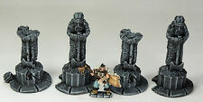 """Frostgrave (adatto) - """"DEAD Kings STATUE's - dipinto a Collector's Standard"""