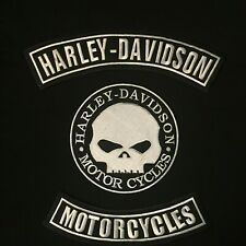 HARLEY DAVIDSON ROCKERS BIKER PATCH SET SKULL VEST/ JACKET LSM New SET OF 3