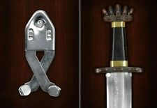 An Adjustable Sword & Dagger Scissor Action Display Hook & Fixings. Wall Hanger