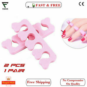 1 Pair Soft Foam Toe Separators Finger Dividers Manicure Pedicure Nails Art