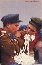 NAPOLI - COSTUMI NAPOLETANI - Ed.Guggenheim - Mangiatori di Maccheroni