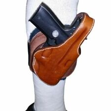 ANKLE HOLSTER GLOCK 26 27 Tan Brown Leather Right Hand Wool Padding Montezuma