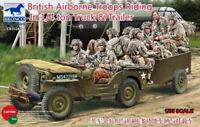 Bronco  1/35  CB35169 British Airborne Troops Riding in 1/4 Ton Truck&Trailer