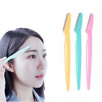 3Pcs Eyebrow Razor Trimmer Shaver Blade Ladies Facial Hair Remover Beauty Tools