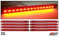 8X Red 15 LED 24V Rear Tail Side Marker Lights Lamps For Man Daf Scania Volvo