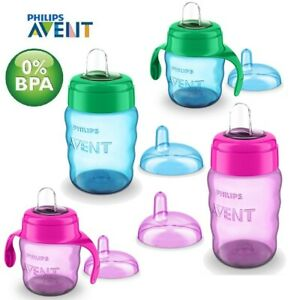 Avent Easy Sip Soft Spout Cup 200ml or 260ml Baby Toddler Weaning Drink Beaker