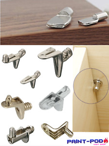 10 Shelf Supports Holder Pegs Pin Plug Stud In 4,5,6mm Kitchen Cupboard Cabinet