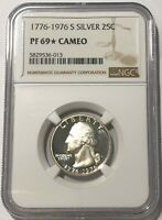 1776 - 1976 S NGC PF69 STAR CAMEO PROOF SILVER WASHINGTON QUARTER BICENTENNIAL