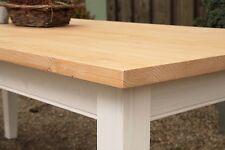 Tisch Esstisch Massivholz Landhaus Esszimmer Küche 250 cm M01 weiss natur Neu