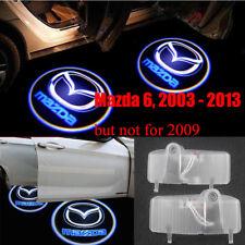 2x LED mazda logo door step courtesy laser projector light For Mazda 6 2004-2013