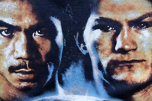 Manny Pacquiao Vs Ricky Hatton 2005 boxing Black t-shirt M fight Las Vegas