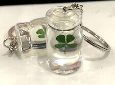 Jewelry Green Shamrock Current Bottle 100 Pcs Four Leaf Clover
